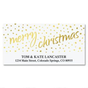 Golden Dots Foil Deluxe Address Labels
