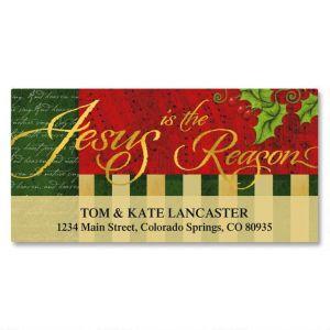 Joyful Season Foil Deluxe Address Labels