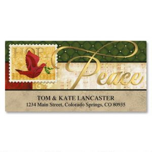 Peaceful Petals Foil Deluxe Address Labels