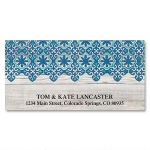 Coastal Christmas Foil Deluxe Address Labels