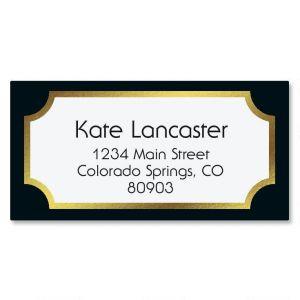 Fundamental Black Foil Border Address Labels