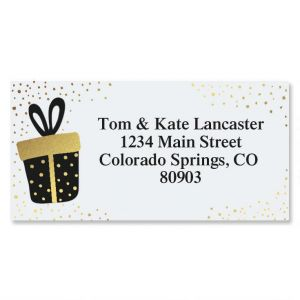 Gifted Foil Border Address Labels