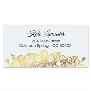 Allure Foil Border Address Labels