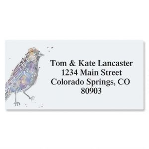 Twitter Foil Border Address Labels