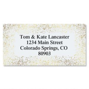 Gold Speckles Foil Border Address Labels