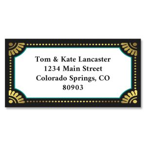 Showtime Foil Border Return Address Labels