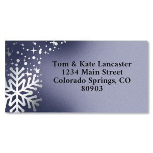 Special Delivery Border Foil Christmas Address Labels