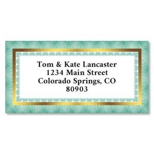Simple Frame Foil Border Return Address Labels