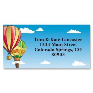 Ballooning Foil Border Return Address Labels