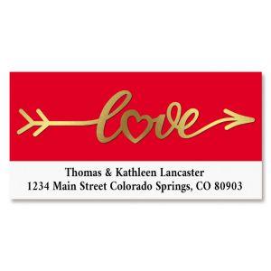 Lovely Foil Border Return Address Labels