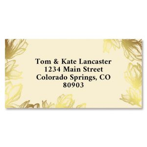 Bloom Foil Border Return Address Labels