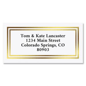 Gold Foil Border Return Address Labels