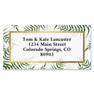 Palms Foil Border Return Address Labels