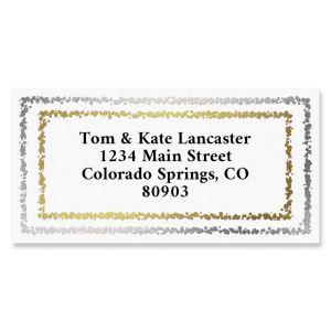 Gold & Silver Foil Border Return Address Labels