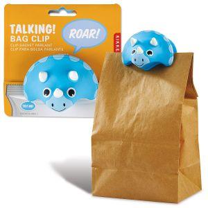 Talking Triceratops Bag Clip