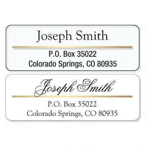 Address Label with Gold Foil Accent Line
