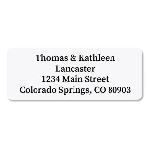 White Return Address Labels