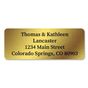 Foil  Rectangle Address Labels