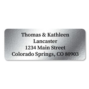 Silver Foil Return Address Labels