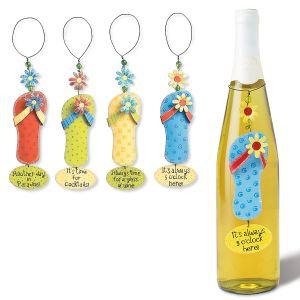 Flip Flop Wine Bottle Charms