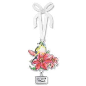 Flower and Bird Car Charm