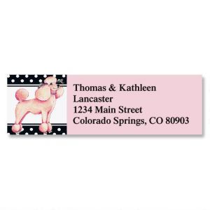 Pink Poodle Classic Address Labels