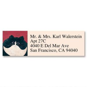 Kitty Classic Address Labels by Warren Kimble