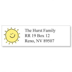 Sunshine Smile Classic Address Labels