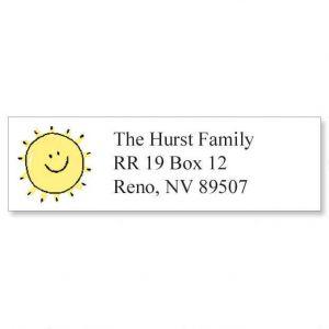 Sunshine Smile Classic Address Labels