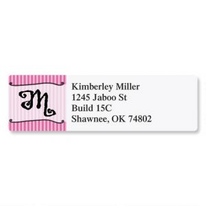Parisian Initial Classic Address Labels
