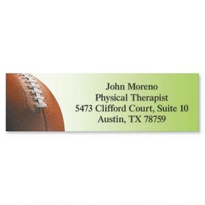 Football Classic Address Labels