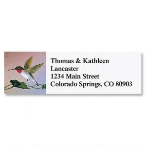 Ruby-Throated  Classic Address Label
