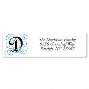 Gothic Monogram Classic Address Labels