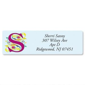 Regal Monogram Classic Return Address Labels