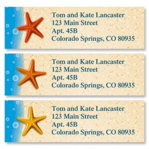 Starfish Trio Classic Address Labels  (3 Designs)