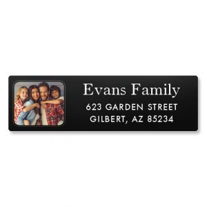 Modern Classic Photo Return Address Label