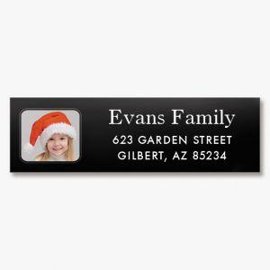 Modern Classic Photo Return Address Label