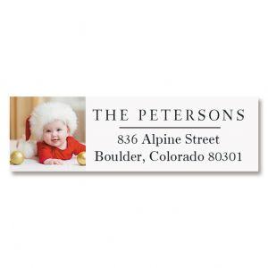 Classic Photo Return Address Label