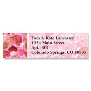 Heart Pattern Classic Return Address Labels