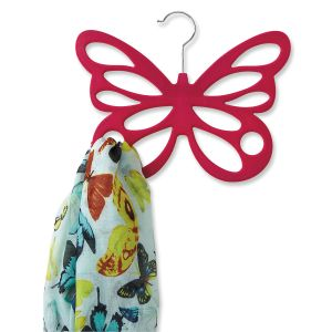 Pink Butterfly Scarf Hangers