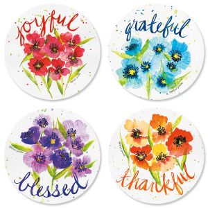 Poppies & Gratitude Envelope Seals (4 Designs)