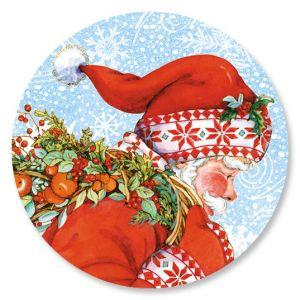 Santa's Wreath Envelope Seals