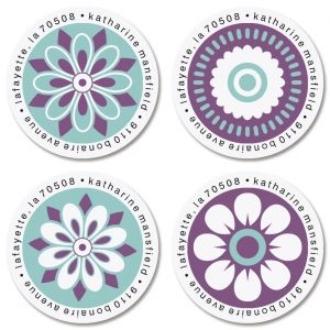 Vibrant Round Return Address Label