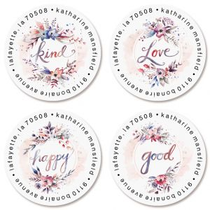 Kindness Round Return Address Labels