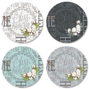 Farmhouse Bolls Envelope Seals (4 Designs)