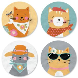 Cat Patch Envelope Seals (4 Designs)