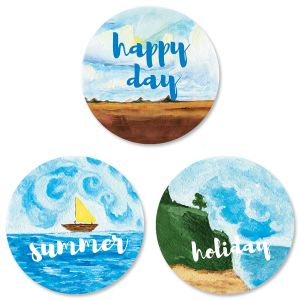 Happy Places Envelope Seals (3 Designs)
