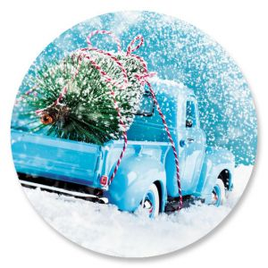 Christmas Tree Truck Envelope Seals