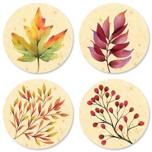Autumn Flourish Envelope Seals (4 Designs)