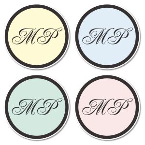 Initials Envelope Seals  (4 Colors)
